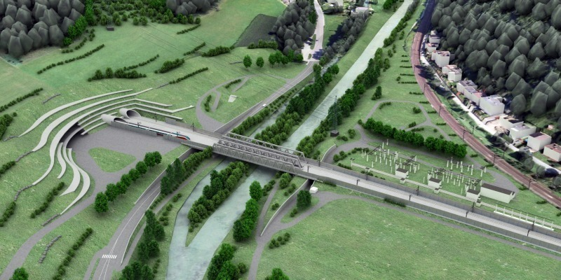 Visualisierung Tunnelportal Gloggnitz, Semmering-Basistunnel neu